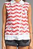 Image 4 of Rebecca Minkoff Jodi Vest in Burnt Orange