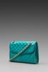 Image 1 of Rebecca Minkoff Diamond Quilt Mini Affair in Sea Green