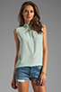 Image 1 of Rebecca Taylor Beaded Collar Top in Mist