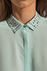 Image 4 of Rebecca Taylor Beaded Collar Top in Mist