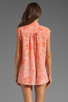 Image 2 of Rebecca Taylor Hibiscus Shirt in Tangerine