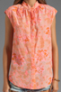 Image 3 of Rebecca Taylor Hibiscus Shirt in Tangerine