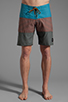 Image 1 of RVCA Layer Boardshort in Henna/Ocean Depth