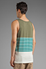 Image 3 of RVCA Layer Tank in Green Moss