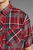 Image 5 of RVCA Nettle Short Sleeve Shirt in Deep Henna