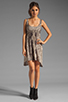 Image 2 of RVCA Drench Cut Out Dress in Feather Grey