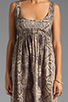 Image 5 of RVCA Drench Cut Out Dress in Feather Grey