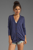 Image 2 of RVCA Shoals V Neck Cardigan with Elbow Patches in Navy