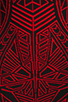 Image 6 of RVN Abstract Jacquard Mini Dress in Red/Black