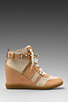 Image 1 of Sam Edelman Brogan Sneaker in New Blush/Sandy Beach