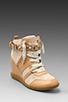 Image 2 of Sam Edelman Brogan Sneaker in New Blush/Sandy Beach