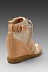 Image 4 of Sam Edelman Brogan Sneaker in New Blush/Sandy Beach