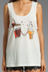 Image 3 of Sauce Cream AA Tank in White