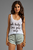 Image 1 of Sauce Ooh Baby Tank in White
