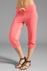 Image 1 of SUNDRY Light Terry Capri Pant in Hibiscus