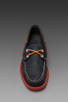 Image 5 of Sebago Docksides in Navy/Red Outsole
