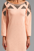 Image 5 of See By Chloe Long Sleeve Tee Shirt Dress in Grey/Beige