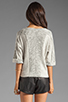 Image 2 of See By Chloe Long Sleeve Wide Neck Jacket in Dark Grey