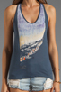 Image 3 of See By Chloe Miami Print Tank in Blue