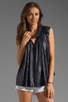Image 1 of See By Chloe Gathered Blouse in Navy
