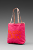 Image 1 of See By Chloe Gimmick Medium Shopper in Indian Pink