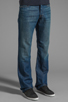 Image 2 of 7 For All Mankind The Standard in Cotton Linen Indigo
