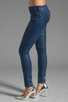 Image 2 of 7 For All Mankind The Skinny in Midnight Navy Glitter