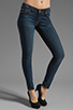 Image 1 of 7 For All Mankind The Skinny with Squiggle in Genuine Dark Blue
