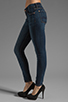Image 2 of 7 For All Mankind The Skinny with Squiggle in Genuine Dark Blue