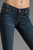 Image 4 of 7 For All Mankind The Skinny with Squiggle in Genuine Dark Blue