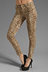 Image 1 of 7 For All Mankind The Slim Cigarette with Gold Zips in Cheetah Print