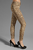 Image 2 of 7 For All Mankind The Slim Cigarette with Gold Zips in Cheetah Print