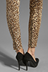 Image 7 of 7 For All Mankind The Slim Cigarette with Gold Zips in Cheetah Print