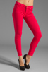 Image 1 of 7 For All Mankind The Cropped Skinny in Hot Fuchsia