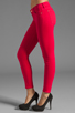 Image 2 of 7 For All Mankind The Cropped Skinny in Hot Fuchsia