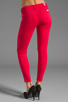 Image 3 of 7 For All Mankind The Cropped Skinny in Hot Fuchsia
