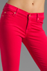 Image 4 of 7 For All Mankind The Cropped Skinny in Hot Fuchsia