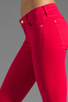 Image 5 of 7 For All Mankind The Cropped Skinny in Hot Fuchsia