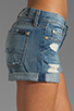 Image 5 of 7 For All Mankind Josefina Roll Up Short in Light Destroyed