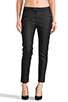 Image 1 of 7 For All Mankind Slim Chino in Coated Black