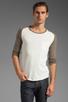 Image 1 of Shades of Grey by Micah Cohen Long Sleeve Baseball Tee in Natural Slub