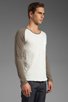Image 2 of Shades of Grey by Micah Cohen Long Sleeve Baseball Tee in Natural Slub