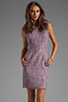 Image 1 of Shoshanna Mika Sheath Dress in Lavender Multi