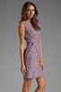 Image 3 of Shoshanna Mika Sheath Dress in Lavender Multi