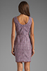 Image 4 of Shoshanna Mika Sheath Dress in Lavender Multi