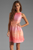 Image 1 of Shoshanna Julia Freya Dress in Peach Multi