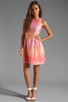 Image 2 of Shoshanna Julia Freya Dress in Peach Multi