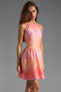 Image 3 of Shoshanna Julia Freya Dress in Peach Multi