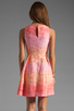 Image 4 of Shoshanna Julia Freya Dress in Peach Multi