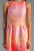 Image 5 of Shoshanna Julia Freya Dress in Peach Multi